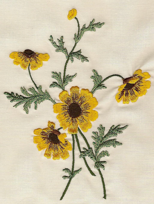 Embroidery flowers for sale makaroka